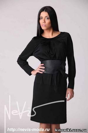 модные трикотажные платья 2012 фото.